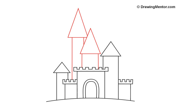 how to draw the inside of a castle