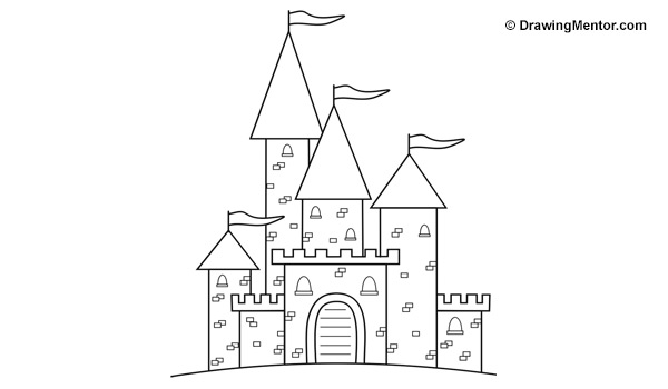 how to draw a castle drawing mentor