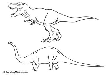 Learn how to draw drawing mentor how to draw a dinosaur ccuart Gallery