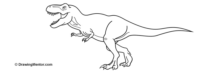 how to draw a dinosaur