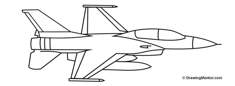 Line Drawing Jet : How to draw a jet