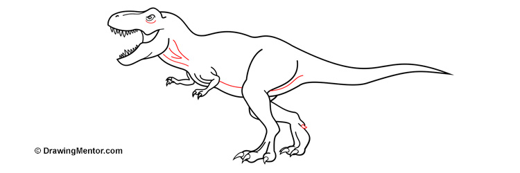 22+ T Rex Side View Drawing Images