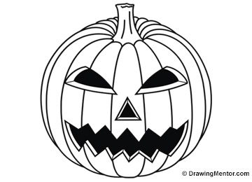 how to draw a pumpkin