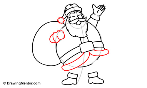 how to draw santa